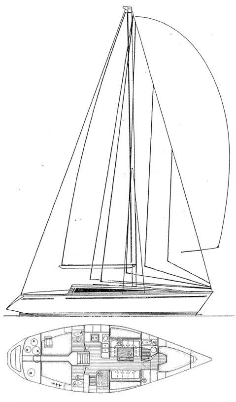 SUN FAST 41 (JEANNEAU) drawing