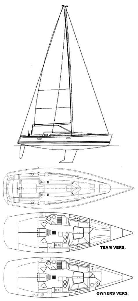 SUN FAST 42 (JEANNEAU) sailboat specifications and details