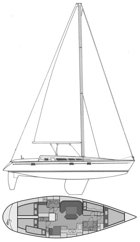 SUN MAGIC 44 (JEANNEAU) drawing