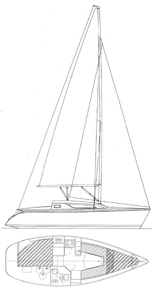 SUN ODYSSEY 28.1 (JEANNEAU) drawing