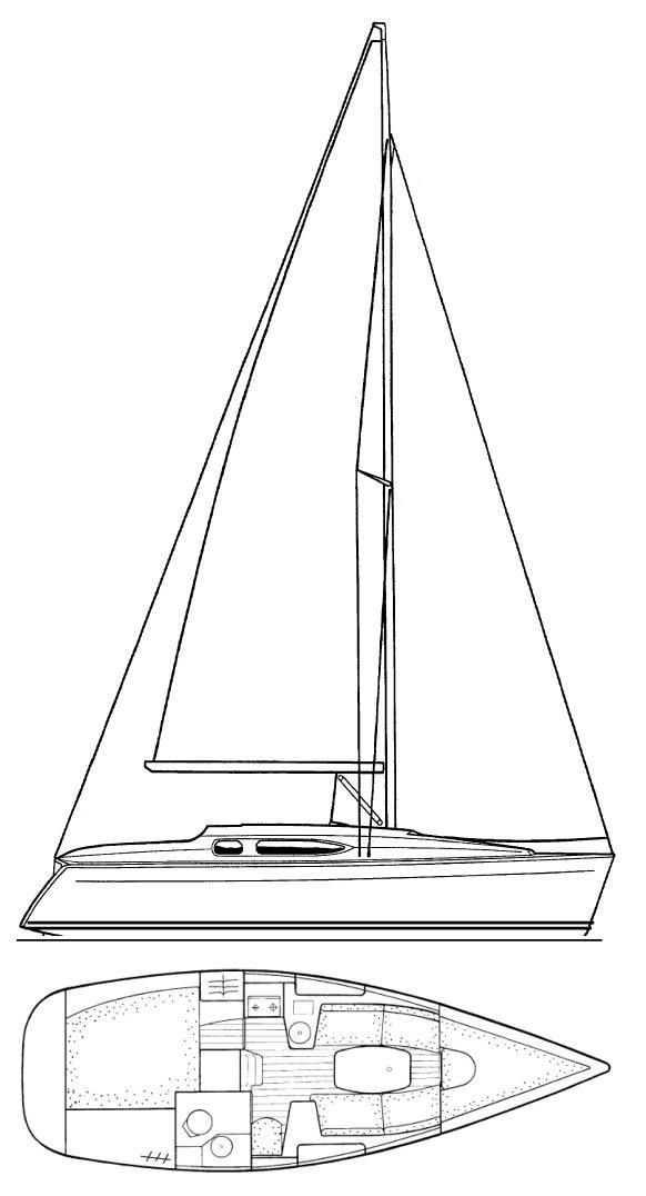 SUN ODYSSEY 29.2 (JEANNEAU) drawing