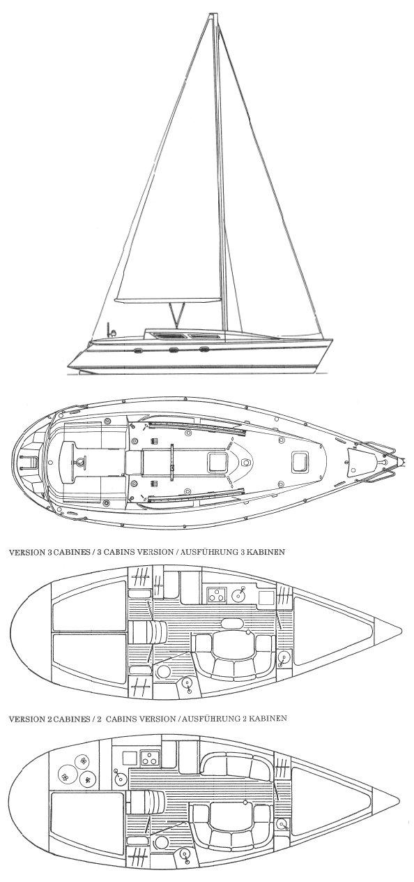 SUN ODYSSEY 33 (JEANNEAU) drawing