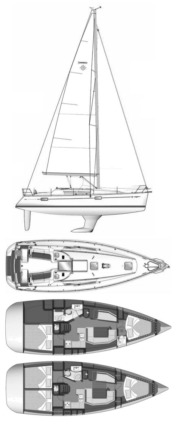 SUN ODYSSEY 39I (JEANNEAU) drawing