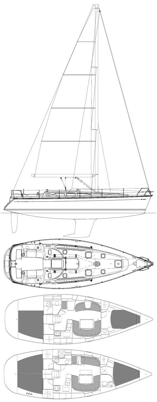 SUN ODYSSEY 40.3 (JEANNEAU) drawing