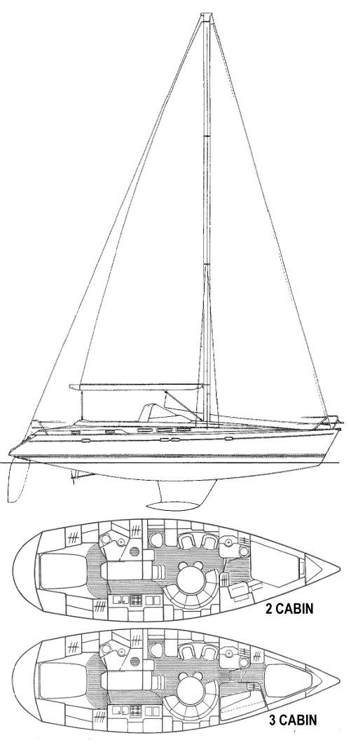 SUN ODYSSEY 47 CC (JEANNEAU) drawing