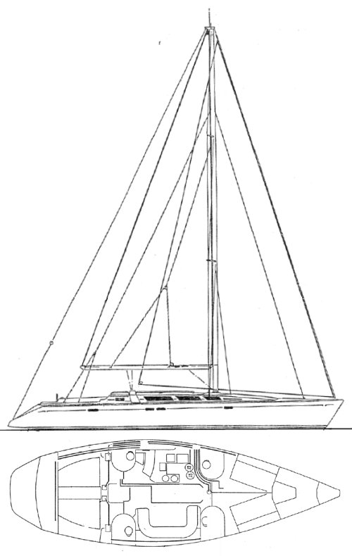 SUN ODYSSEY 51 (JEANNEAU) drawing