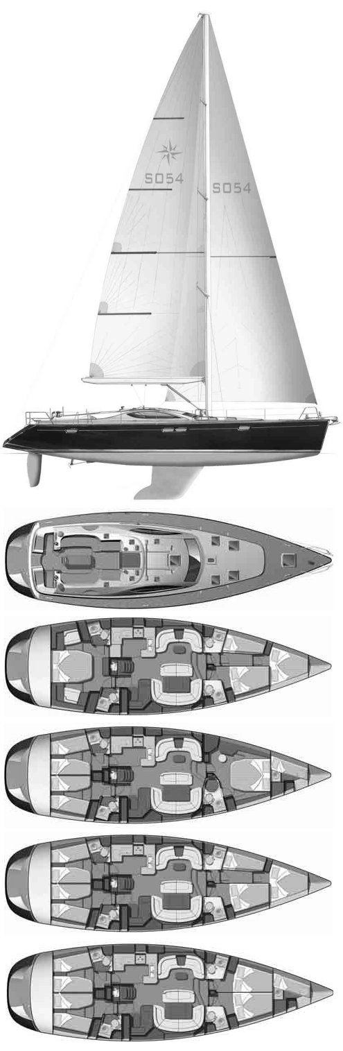 Sailboatdata Com Sun Odyssey 54 Ds Jeanneau Sailboat
