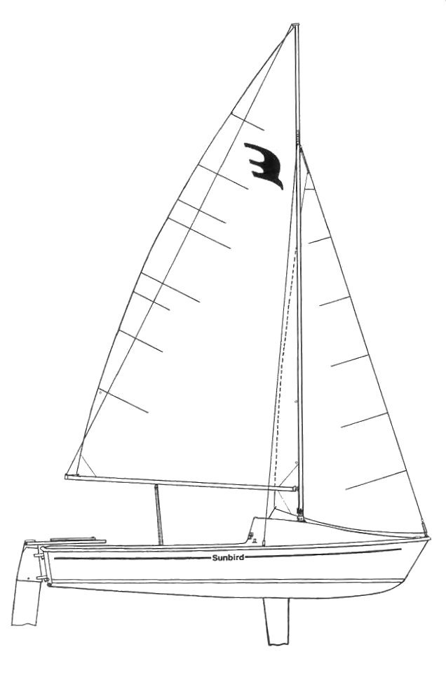Sunbird 16 drawing on sailboatdata.com