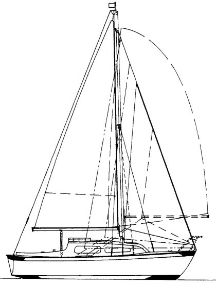 Sunmaid 20 drawing on sailboatdata.com