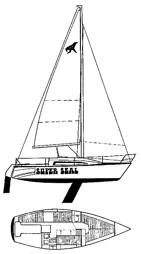 Super Seal 26 drawing on sailboatdata.com