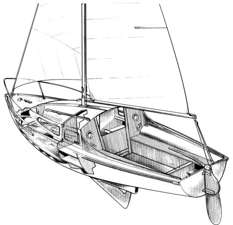 Super Simoun 580 drawing on sailboatdata.com