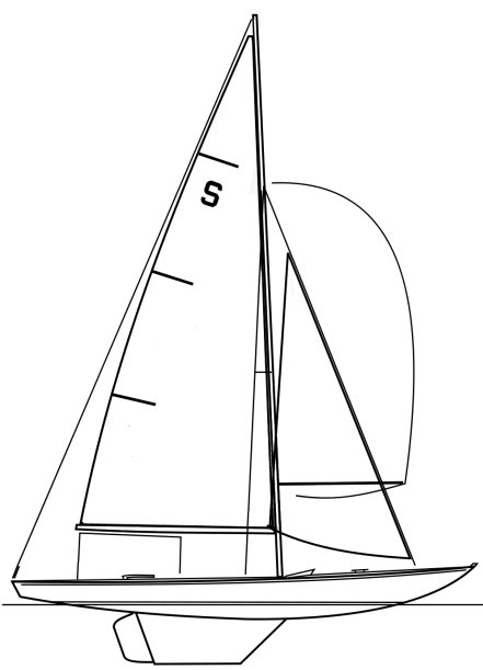 Swallow One-Design drawing on sailboatdata.com