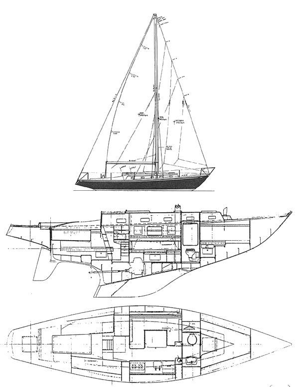 SWAN 36 drawing