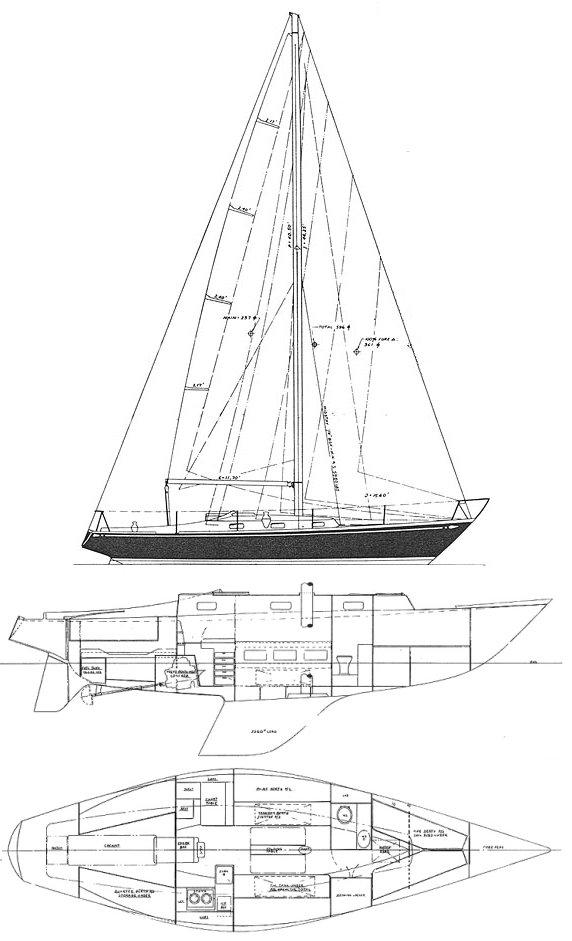 SWAN 37 drawing