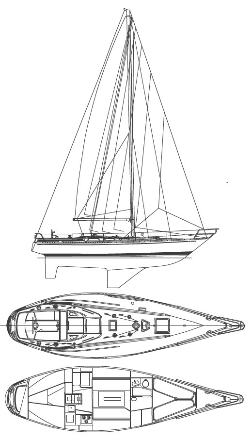 SWAN 38 S&S drawing