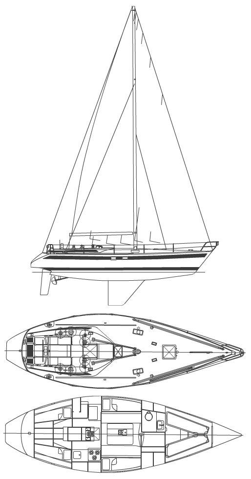 SWAN 39 drawing