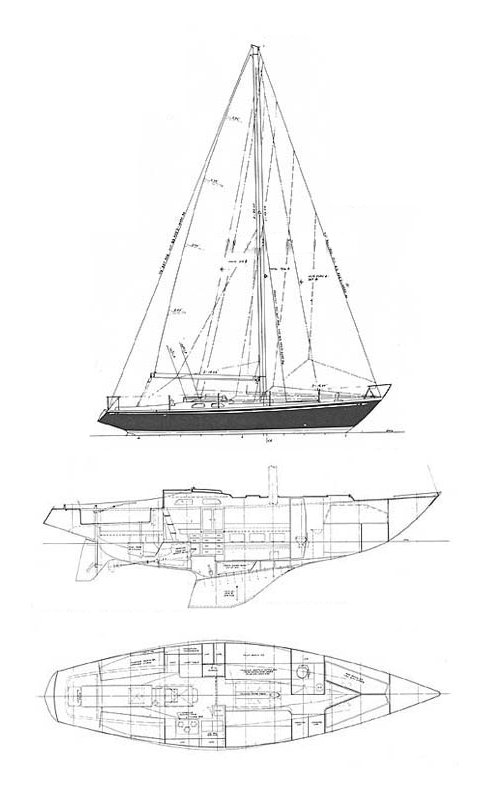 SWAN 40 (S&S) drawing