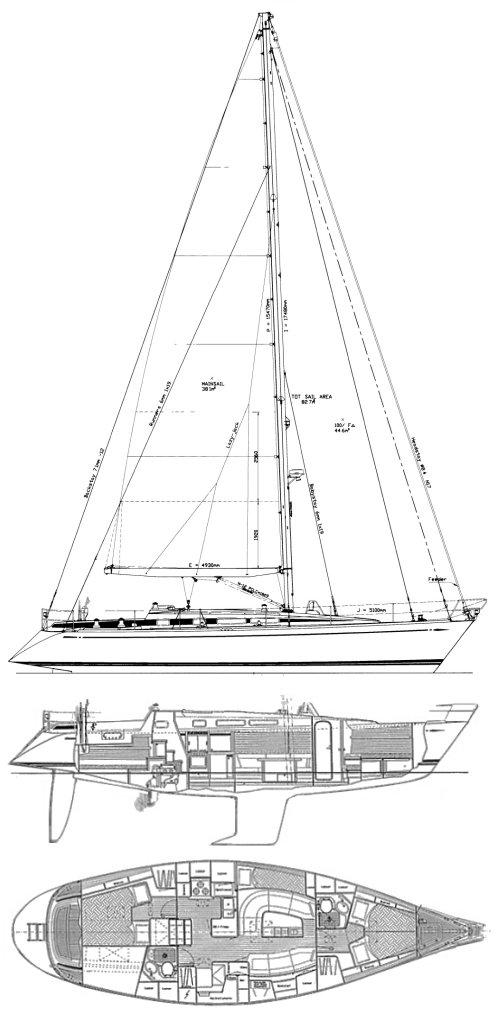 SWAN 44 MK II (FRERS) drawing