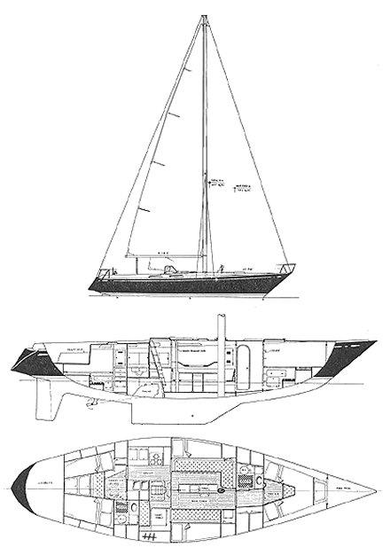 SWAN 47-2 S&S CB (NYYC 48) drawing