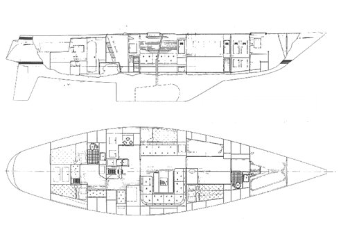 Swan 57 S&S CB drawing on sailboatdata.com