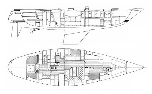 SWAN 57 S&S drawing