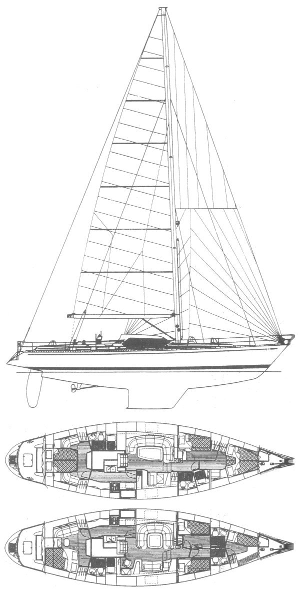Swan 57 RS drawing on sailboatdata.com