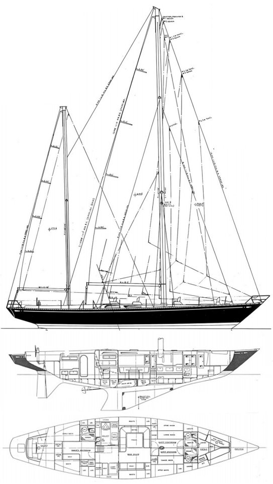 SWAN 65-S&S KETCH drawing
