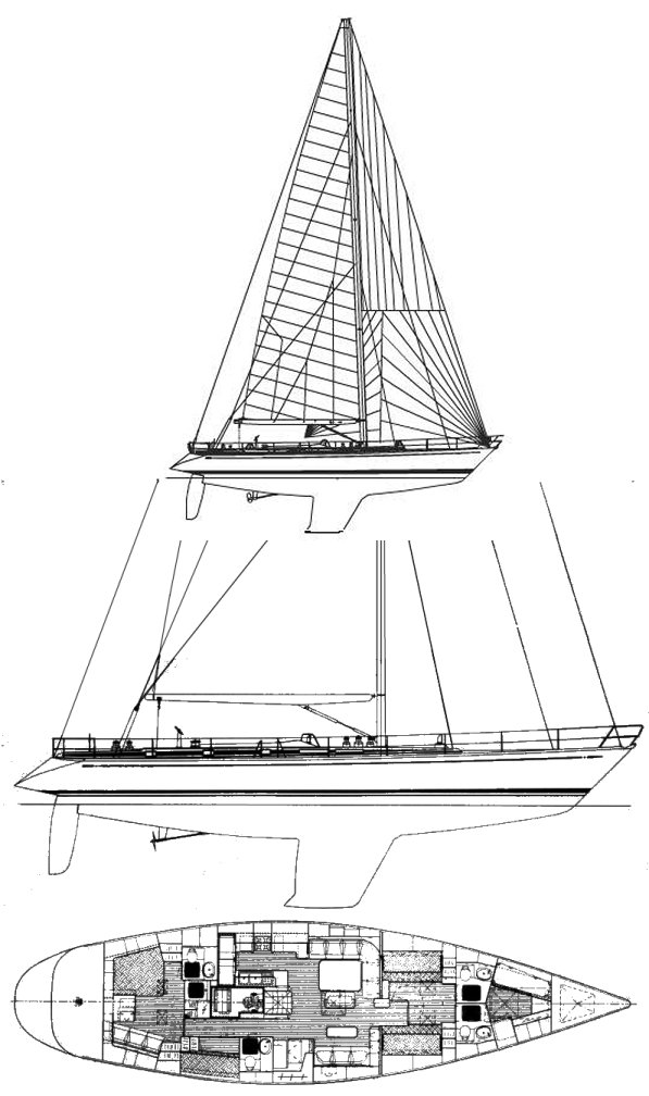 Swan 68 drawing on sailboatdata.com