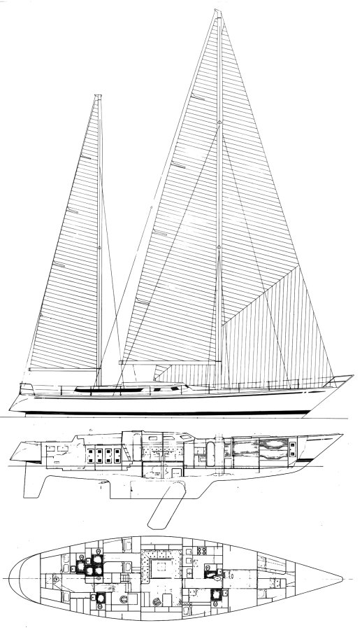 Swan 76 DH drawing on sailboatdata.com