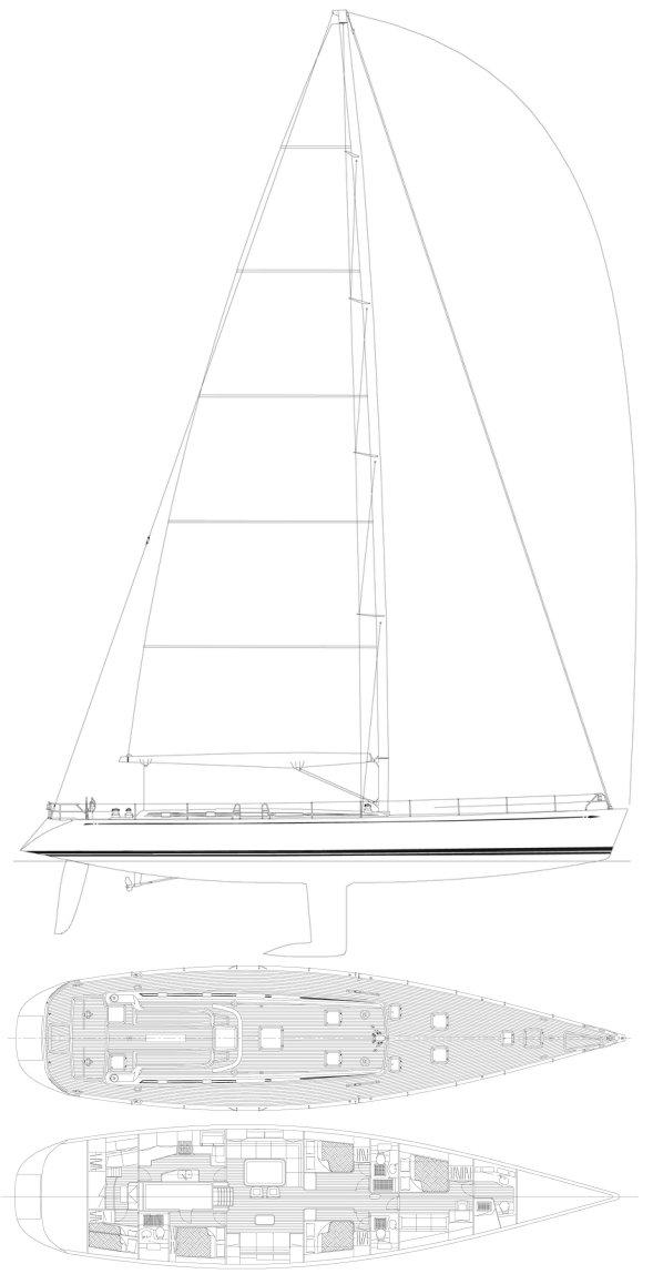 SWAN 80 drawing
