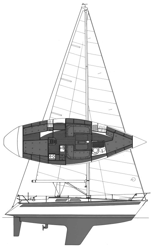 SWEDEN YACHTS 36 drawing