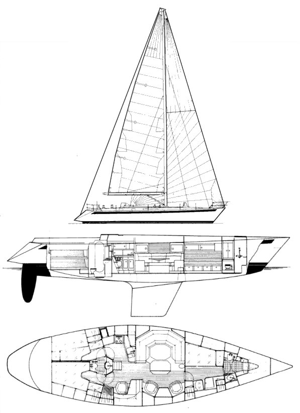 Sweden Yacht 50 drawing on sailboatdata.com