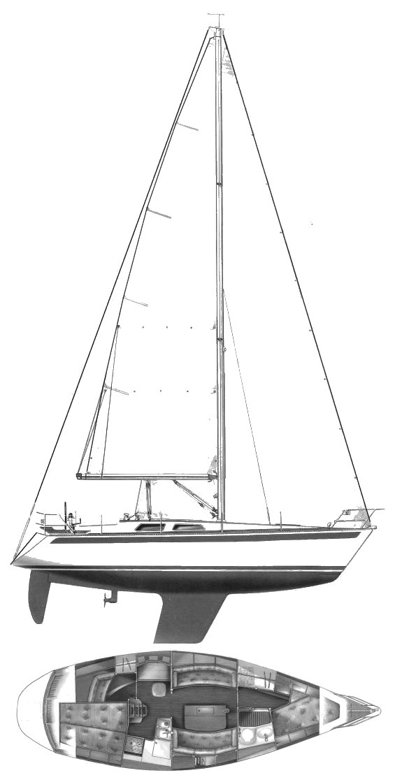SWEDEN YACHTS 340 drawing