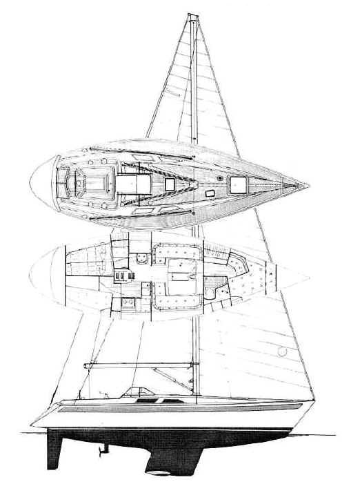 SWEDEN YACHTS 38 drawing
