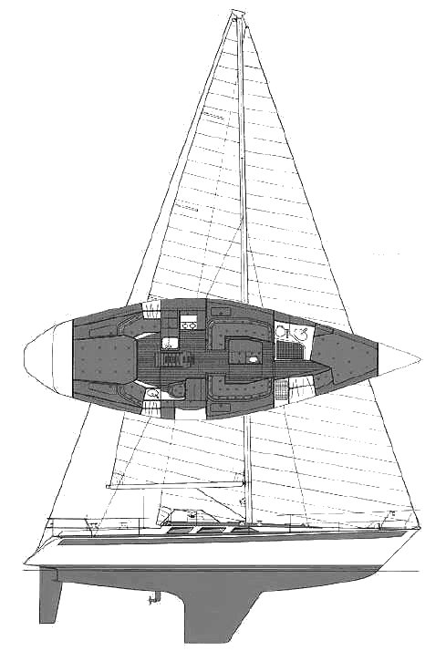 SWEDEN YACHTS 41 drawing