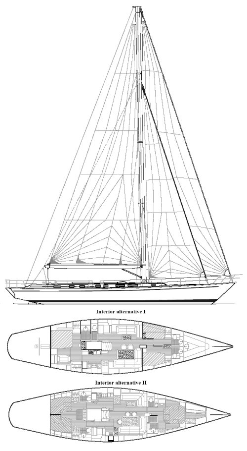 Sweden Yachts 70 drawing on sailboatdata.com