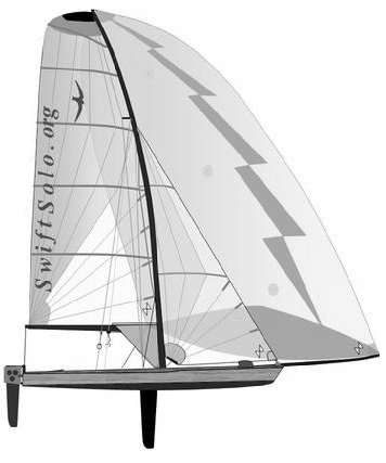 Swift Solo drawing on sailboatdata.com