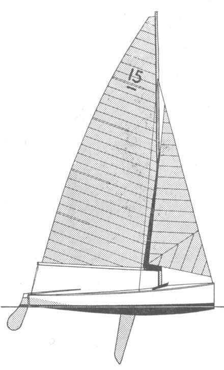 Swordfish Dinghy drawing on sailboatdata.com