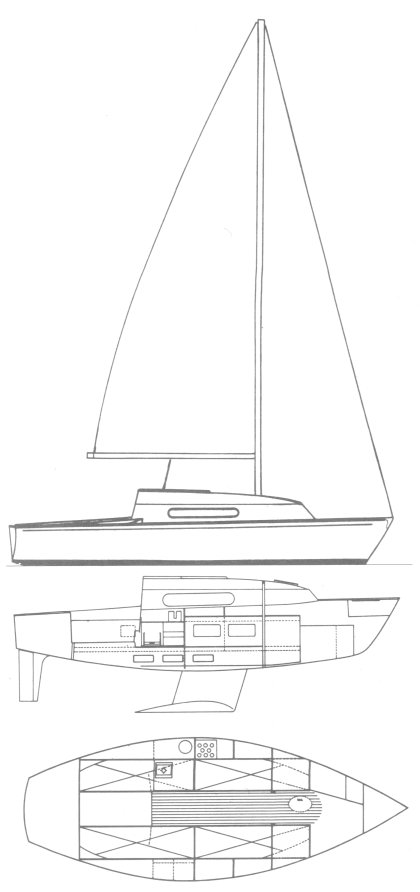 Sylphe (Dufour) drawing on sailboatdata.com