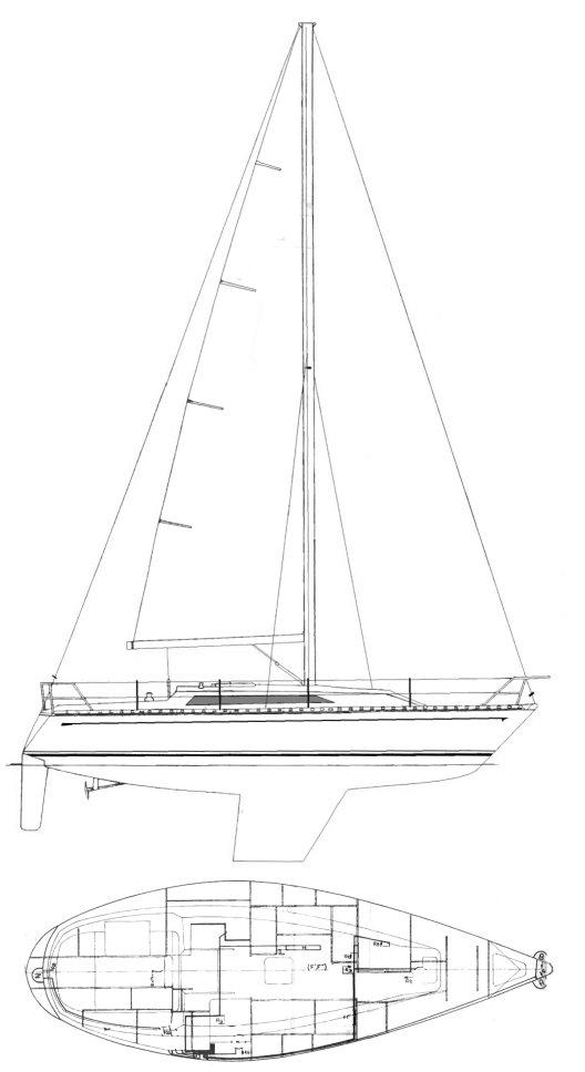SYMPHONIE 32 (JEANNEAU) drawing