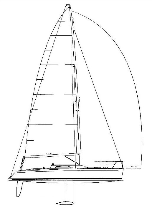 Synergy 1000 drawing on sailboatdata.com