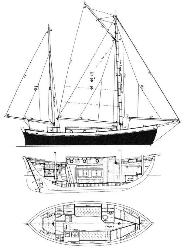 TAHITI KETCH drawing