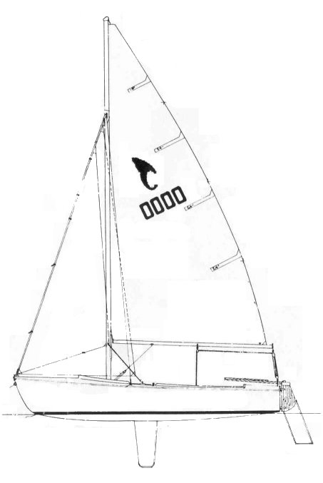 Tanzer 16 drawing on sailboatdata.com