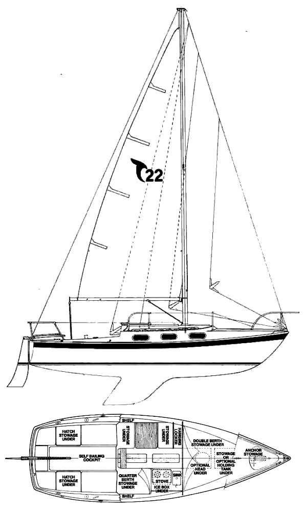 TANZER 22 drawing