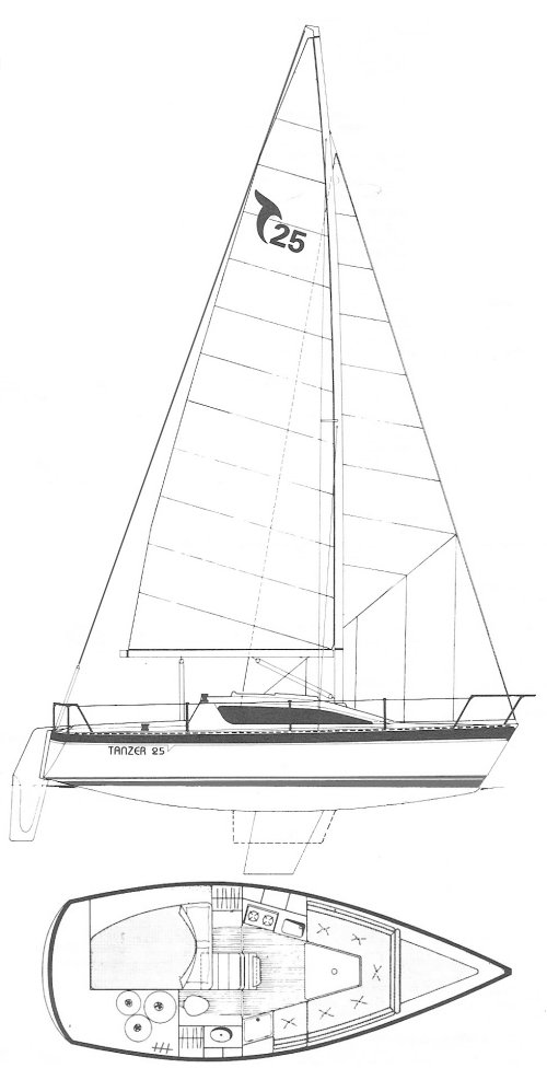 TANZER 25 drawing