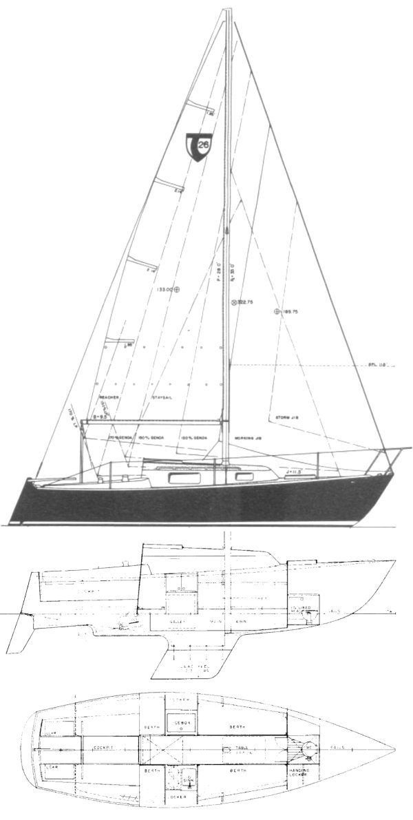 Tartan 26 drawing on sailboatdata.com