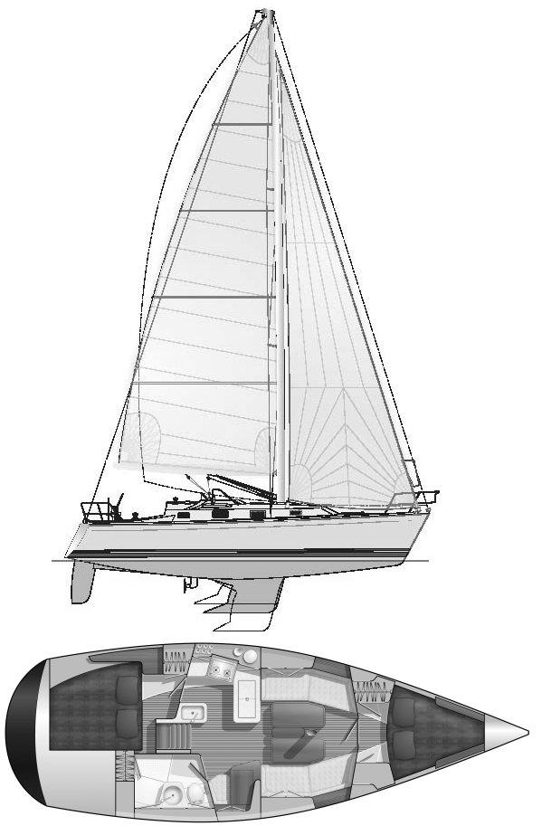 TARTAN 3400 drawing
