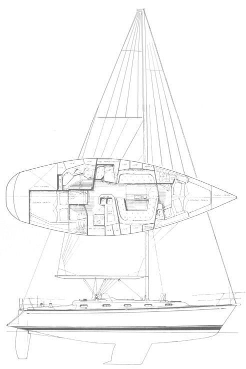 TARTAN 3800 drawing