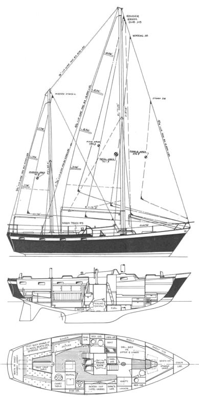 Tartan TOCK drawing on sailboatdata.com
