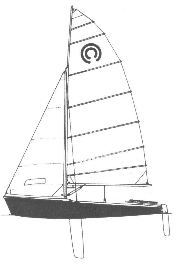Tasar drawing on sailboatdata.com